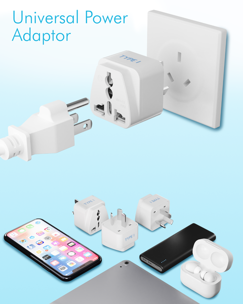 Australia, China Travel Adapter - Type I - 3 Pack (GP-16)