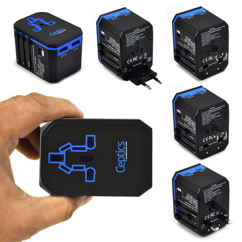 All-In-One International Type C 3.0 Travel Plug Adapter - 2 USB Ports (UP-10KU)