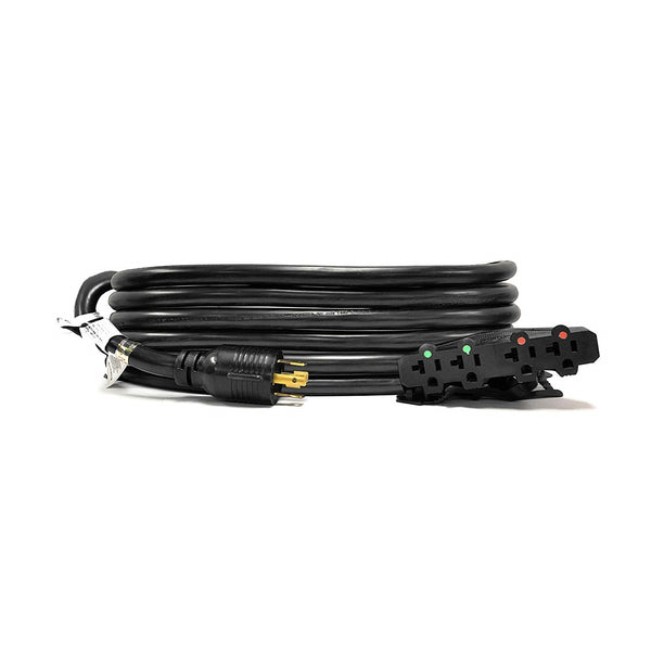 30A L14-30P to 4x 5-15/20R Generator Distribution Power Cord | 10 AWG