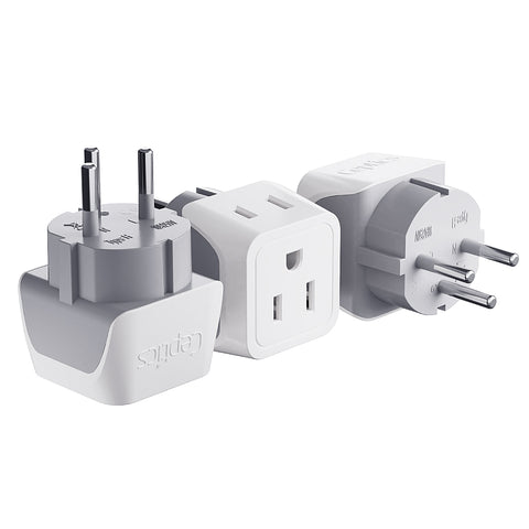 Israel, Palestine Travel Adapter - Type H - Ultra Compact (CT-14, 3 Pack)