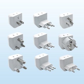 World Travel Adapter Kit with 2 USB Ports & 2 Outlets | Ceptics