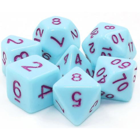 Robin's Egg - Light Blue Opaque Dice - 7 Polyhedral Set (Acrylic)