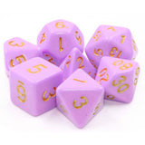 Lilac Crown - Light Purple Opaque Dice - 7 Polyhedral Set (Acrylic)