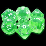 Emerald Gems Green Translucent Dice - 7 Polyhedral Set (Acrylic)