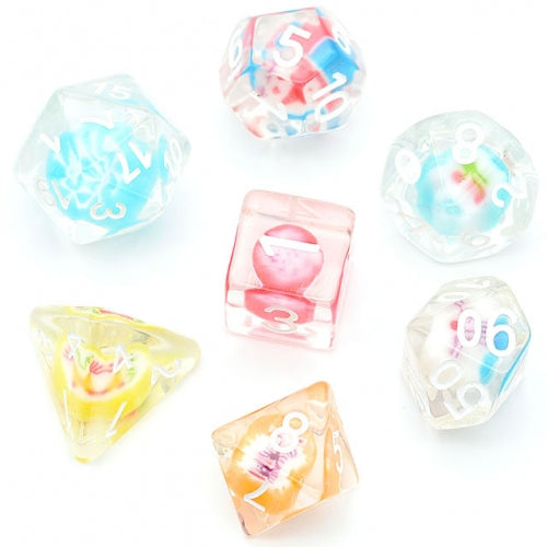 Real Candy Dice - 7 Polyhedral Set