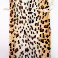 Jaguar Print Faux Fur Dice Bag
