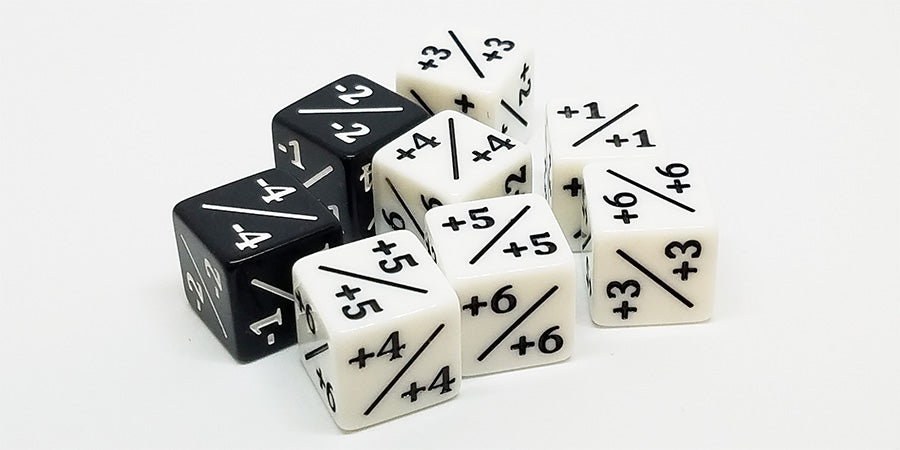 Magic Counter Dice Set of 8 Counters