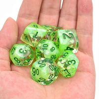 Leaf Storm - Green Spring Four Seasons Dice - 7 Polyhedral Set