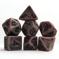 Old Boots Antiqued Dice - 7 Polyhedral Set (Polyresin)
