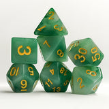 Jade Look Dice - 7 Polyhedral Set (Polyresin)