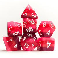 Red Gradient Dice - 7 Polyhedral Set (Polyresin)