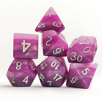 Purple Gradient Dice - 7 Polyhedral Set (Polyresin)