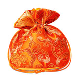 Orange Brocade Dice Bag