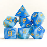 Blue Skies Dice - 7 Polyhedral (Acrylic)