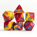 Magma Dice - Red and Yellow - 7 Polyhedral (Acrylic)