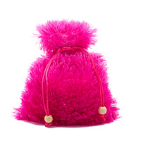 Hot Pink Extra Fuzzy Faux Fur Dice Bag