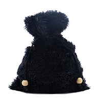Black Extra Fuzzy Faux Fur Dice Bag