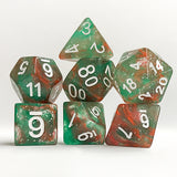 Orion Nebula Galaxy Glitter Dice - 7 Polyhedral Set (Polyresin)