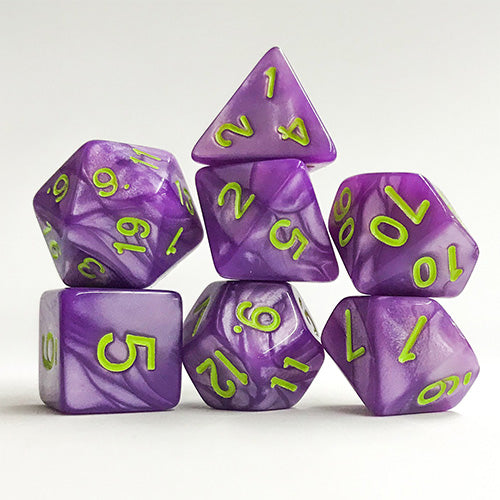 Bright Purple Pearl - 7 Polyhedral Set (Acrylic)