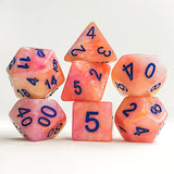 Salmon Quartz - 7 Polyhedral Set (Resin)