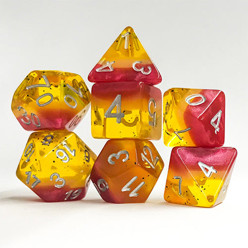 Passionfruit - 7 Polyhedral Set (Polyresin)