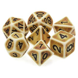 Antiqued Parchment - 7 Polyhedral Set (Resin)
