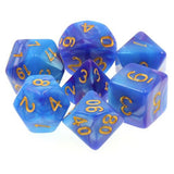 Purple/Blue Swirl Dice - 7 Polyhedral Set (Acrylic)