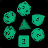 Blue Glow-in-the-Dark Dice - 7 Polyhedral (Acrylic)