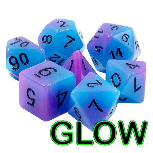 Octopus's Garden Dice - Glow-in-the-Dark - 7 Polyhedral Set