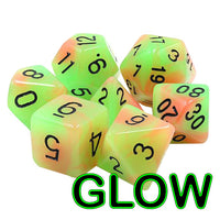 Haunted Pumpkin Dice - Glow-in-the-Dark  - 7 Polyhedral Set