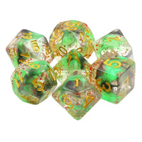 Serpent Spatter Dice - 7 Polyhedral Set (Resin)
