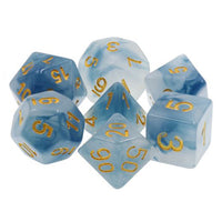Stormy Seas - Blue Dice - 7 Polyhedral Set (Resin)
