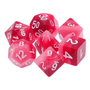 Red Gradient Dice - 7 Polyhedral Set (Resin)
