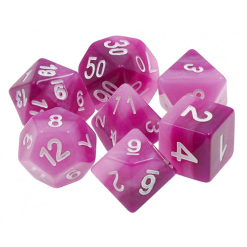 Purple Gradient Dice - 7 Polyhedral Set (Resin)