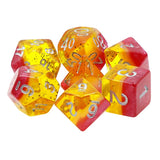 Passionfruit Dice - 7 Polyhedral Set (Resin)