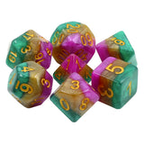 Mardi Gras Dice - Iridescent Layers - 7 Polyhedral Set (Resin)