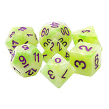 Lime Quartz Dice - 7 Polyhedral Set (Resin)