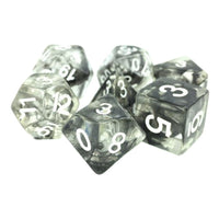 Black Space Dice - 7 Polyhedral Set (Resin)
