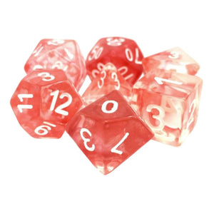 Red Space Dice - 7 Polyhedral Set (Resin)