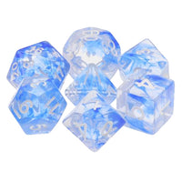 Blue Space Dice - 7 Polyhedral Set (Resin)