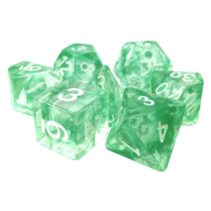Green Space Dice - 7 Polyhedral Set (Resin)