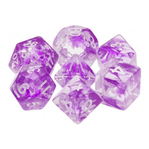 Purple Space Dice - 7 Polyhedral Set (Resin)