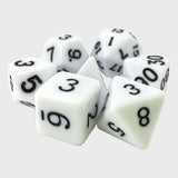 White Opaque Dice - 7 Polyhedral Set (Acrylic)