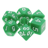Green Opaque Dice - 7 Polyhedral Set (Acrylic)