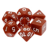 Brown Opaque Dice - 7 Polyhedral Set (Acrylic)