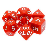 Red Opaque Dice - 7 Polyhedral Set (Acrylic)