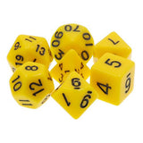 Yellow Opaque Dice - 7 Polyhedral Set (Acrylic)