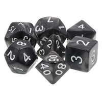 Black Pearl Dice - 7 Polyhedral Set (Acrylic)