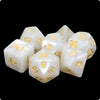 White Pearl Dice - 7 Polyhedral Set (Acrylic)