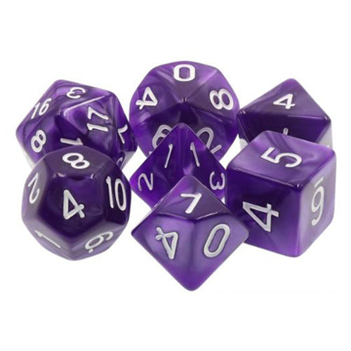 Purple Pearl Dice - 7 Polyhedral Set (Acrylic)